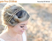 Valentines Day Sale Delicate Fern Leaf Crown -  Ties headband, Crown, Bridal or Special Occasion Headband, Gold Leaf Headband