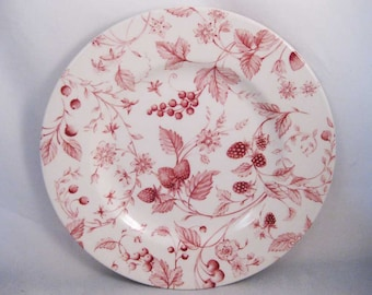 Queens China Malaysia Pink Berries Salad Plate