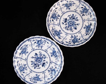 Vintage Johnson Bros Indies Saucers Made In England(2)
