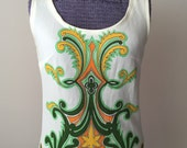 Vintage Vibrant Psychedelic Tank Top 1960s 70s
