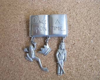 Once Upon A time pewter brooch pin by Clift