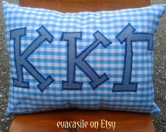 Kappa Kappa Gamma Sorority Appliqued Pillow (2015-36)