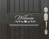 Welcome Door Sign, Vinyl Wall Lettering, Vinyl Wall Decals, Vinyl Decals, Vinyl Lettering, Wall Quotes, Welcome Decal, Door Lettering