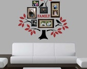 Vinyl Wall Lettering Two Color Family Tree Kit Decal Branches Leaves Birds