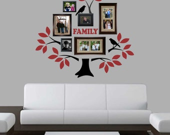 2 Color Family Tree Kit, Vinyl Wall Lettering, Vinyl Wall Decals, Vinyl Letters, Vinyl Lettering, Wall Quotes, Family Decal, Home Decal
