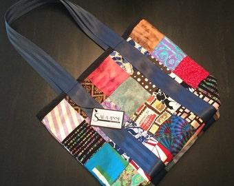 Fabric Squares Tote Bag