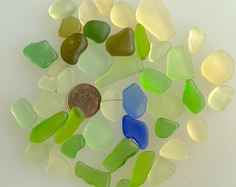Sea Glass or Beach Glass from Hawaii Beaches CORNFLOWER BLUE! COBALT! Authentic Sea Glass for Jewelry!
