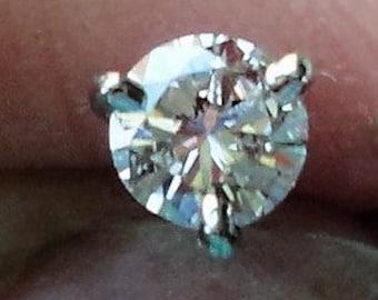 Diamond Earring 1 High Quality Diamond Stud Earring in 14k Gold 3.85mm Diamond Stud .23 Carat G-VS1 Diamond Stud in 3 Prong Martini Setting
