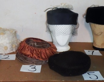 choice of vintage hats