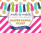 Made to Match Party Printable- Baby Shower Diaper Raffle Ticket Cards