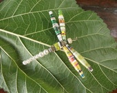 Dragonfly ,Dragonfly Paper Bead Pendant