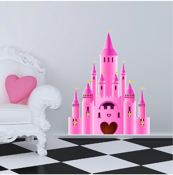 Peel And Stick Fairy Tale Castle Decal Removable Castle Wall Sticker