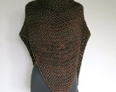Outlander Inspired Claire's Cape Dark Brown Color Knitted Chunky Yarn Rustic Shawl Wrap Celtic Stole with Tassels