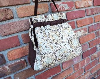 S A L E  Bucket Bag, Canvas Purse, Women's Fall Purse
