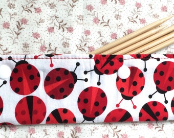 DPN Pocket Pouch Lady Bugs and Daisies