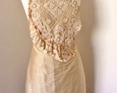 upcycled silk dress, strappy evening, hand stitched  vintage lace, fitted lined silk dress