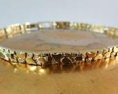 Vintage 10K Gold Nugget Bracelet Circa 1970s