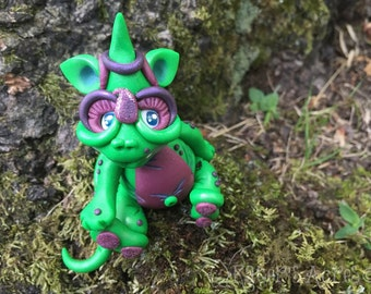 Polymer Clay Dragon 'PRECIOUS' - Limited Edition Handmade Collectible