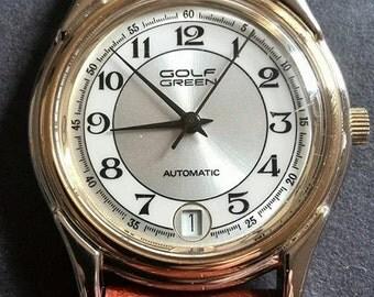 GOLF GREEN wrist watch.-