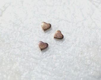 Super Tiny Heart 4mm x 3mm for Metalworking Stamping Texturing Soldering Blanks Variety of Metals - 8 pieces