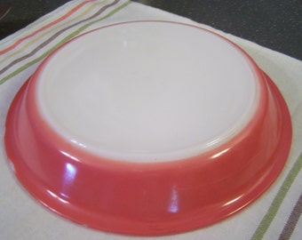 Vintage 50s Pyrex Pie Plate, 9 inch, Flamingo Pink,  #909, Pink Pie Plate,