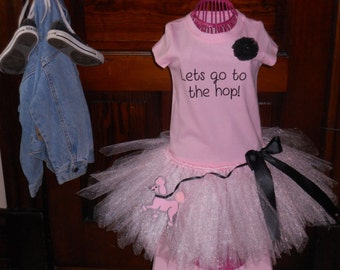 Poodle Skirt Tutu Retro Pink Poodle Skirt Tutu Dress Ready To Ship Size 3T One Of A Kind