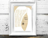 Signed Art Print - Mother Goose - Hush Little Baby - Home Decor Wall Art