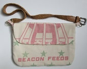 Feed Sack Purse, Cotton Feed Sack, Market Bag, Bags and Purses, Vintage Feed Sack, Beacon Feed Sack,Shoulder Bag,Cross Body, Cotton Feedsack