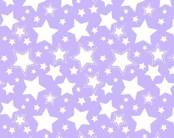 Starry Nights Flannel - Purple Carnation - FLANNEL Print Fabric by David Textiles - you choose the cut