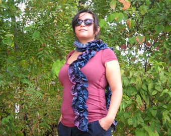 Ombre Zebra Ruched Scarf