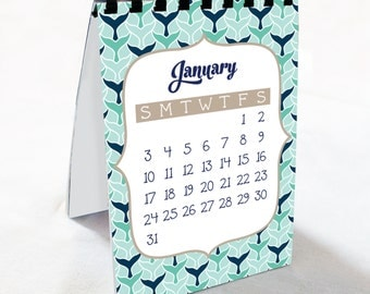 2016 Nautical Theme Calendar - Desk Calendar, Comb Bound, Wall Calendar, or Single Pages