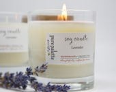 French Lavender Certified Essential Oil Aromatherapy Soy Candle in Tumbler Glass Jar with Gift Box