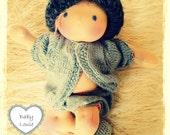 Baby Boy  Waldorf doll- 12 inch baby boy cloth art doll- Reserved for Alexgatsis