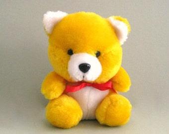 Teddy Bear Toy Bear Doll Stuffed Bear Decor Plushy Bear Plush Bear Plushie Bear Yellow Bear Orange Bear Stuffed Animal Plushies Child Toy