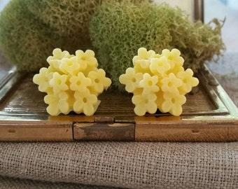 Bridal Plugs, Girly Plugs, Flower Plugs, Yellow, Flower Bouquet