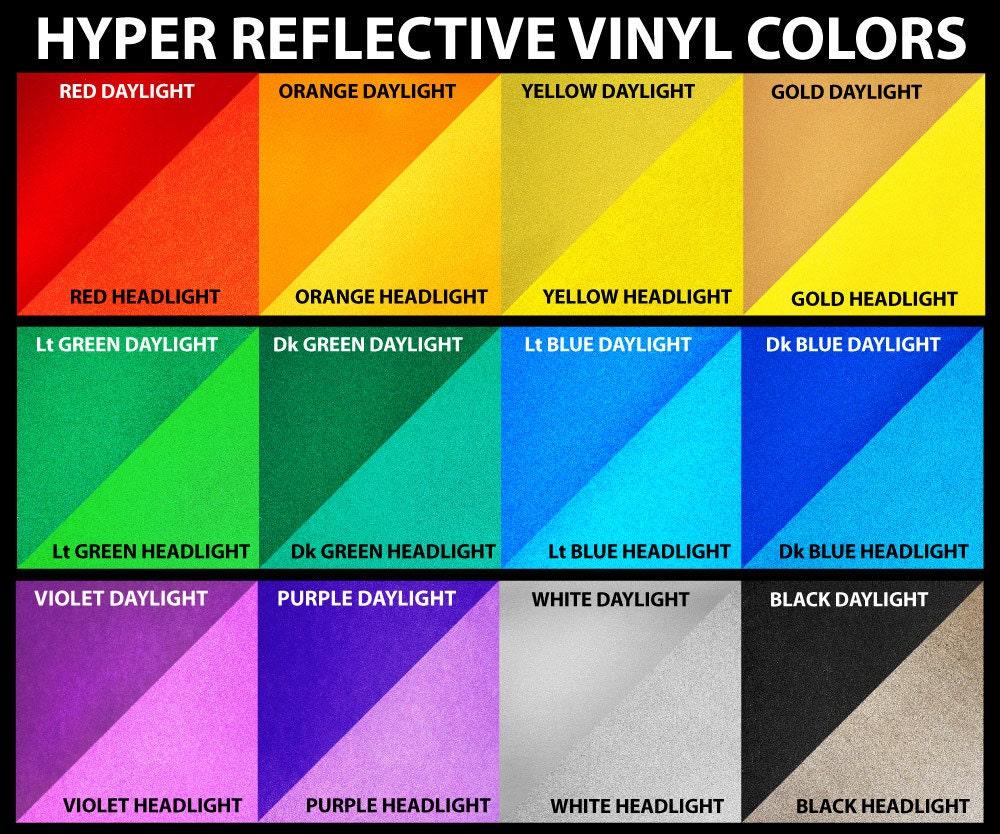 12 Quot X 15 Quot 3m Reflective Vinyl Sheet 12 Inch X 15 Inch