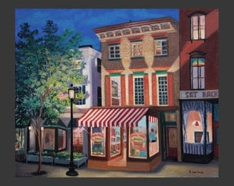 Main Street Sweets at Night by Ronnie Levine