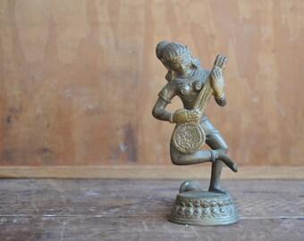 Vintage Large Brass Ornate Indian Door Handle E2108