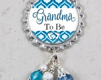 Grandma To Be Pin, Brooch Pin, Pregnancy Reveal Gift, Baby Shower, Mommy To Be, Aunt, Great Grandma, Baby Keepsake
