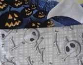 New 7 piece Nightmare Before Christmas Zero baby Crib Bedding Set w/ grey NBC fabric custom made to order