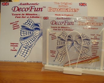 DecoFun Bow Maker Basic Kit- DIY beautiful, easy & quick ribbon bows in minutes. Use the DecoFun Bow Maker Tool with ALL ribbons!