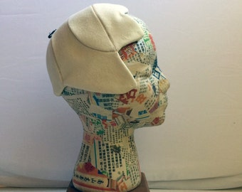 1950s Cream Wool Shell Hat