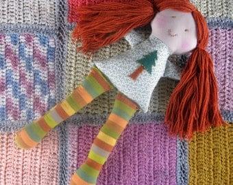 Rag Doll/ecofriendly doll/waldorf doll/ soft cloth doll