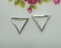 925 Sterling Silver Triangle Pendant Charm - 10x10x10mm - PC-0072