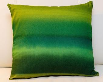 Green Pillow Cover / Marimekko Pattern / Handmade Pillow/ 16x16 inches (40x40cm)