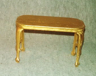 REDUCED Tootsie Toy Buffet Table in Gold Tone