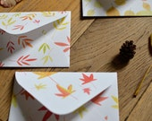 Autumnal greeting cards with matching envelopes set of 3