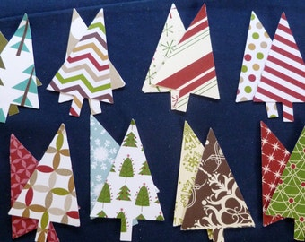 Die Cut Holiday Trees, Retired Stampin' Up! DSP DIY SU! 2 Sided for Tags, Cards, Scrapbooking, Gift Wraping and more.