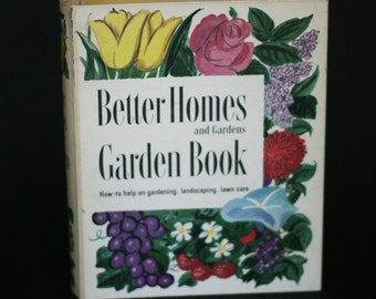 vintage better homes and gardens garden book 1954