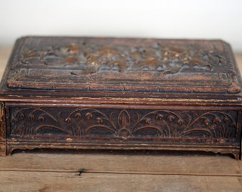vintage syroco jewelry box